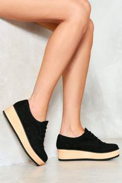 Nasty Gal Going Brogue Platform Oxford