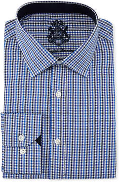 English Laundry Classic-Fit Micro-Gingham Dress Shirt, Blue