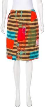 Christian Lacroix Bazar de Patterned Corduroy Skirt