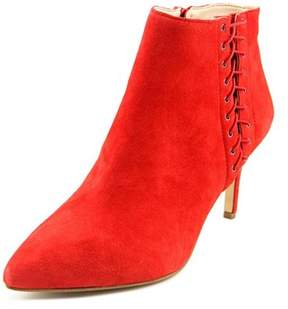 INC International Concepts Tovie Women Pointed Toe Suede Red Bootie.