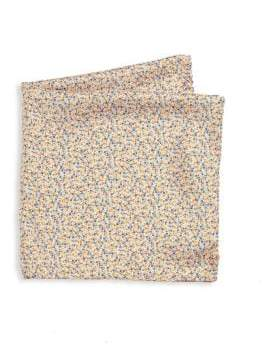 Saks Fifth Avenue COLLECTION Floral Printed Silk Pocket Square