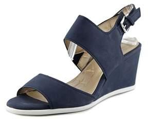 Giani Bernini Lynette Women Open Toe Synthetic Blue Wedge Sandal.