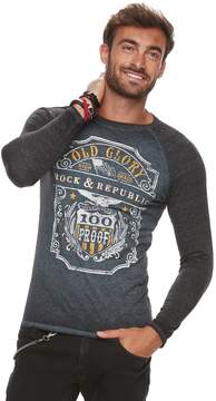 Rock & Republic Men's Graphic Raglan Tee