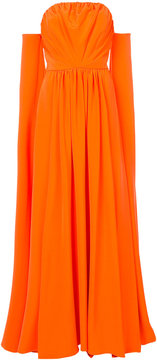 Christian Siriano off-the-shoulder cape gown