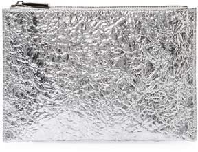 Deux Lux Women's Crinkle Metallic Pouch Bag