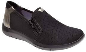 Aravon Women's Wembly Side Zipper Slip On Shoe