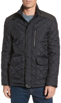 Cole Haan Men's Herringbone Yoke Quilted Jacket