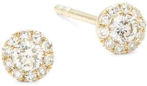 Ef Collection Women's Diamond & 14K Yellow Gold Rounded Stud Earrings