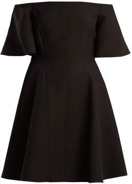 Valentino Off-the-shoulder silk-crepe dress
