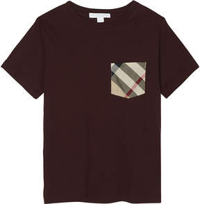Burberry Check pocket cotton T-shirt 4-14 years