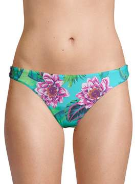 Pilyq Women's Floral-Print Bikini Bottom