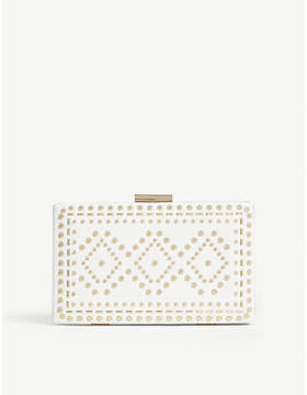 Aldo Errotha embellished faux-leather clutch