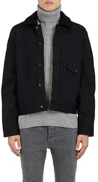 Rag & Bone Men's Bartack Shearling-Lined Denim Jacket