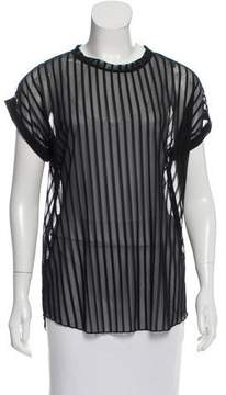 Camilla And Marc Striped Sheer Top