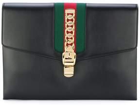 Gucci Sylvie maxi clutch bag - BLACK - STYLE