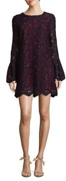 WAYF Bell Sleeve Lace Dress