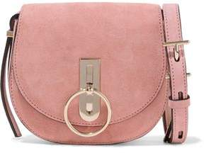 Nina Ricci Embellished Suede Shoulder Bag