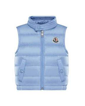 Moncler New Amaury Puffer Vest, Medium Blue, Size 12M-3Y