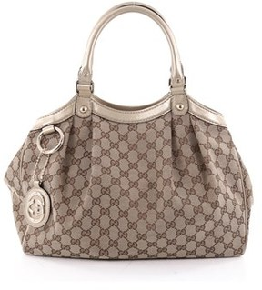Gucci Pre-owned: Sukey Tote Gg Canvas Medium. - NEUTRAL - STYLE
