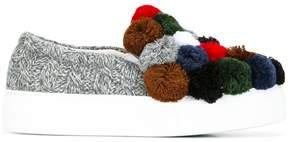 Joshua Sanders pom pom slip-on sneakers