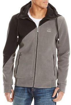 Bench Hooded Zip-Front Fleece Jacket