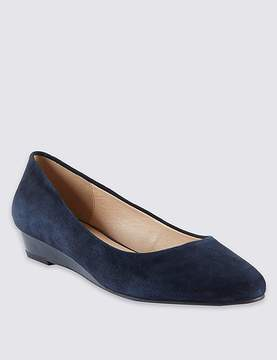 Marks and Spencer Suede Wedge Heel Court Shoes
