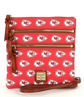Dooney & Bourke NFL Collection Kansas City Chiefs Triple-Zip Cross-Body Bag - RED - STYLE