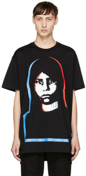 Givenchy Black Abstract Girl T-Shirt