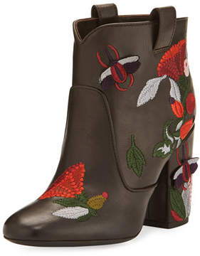 Laurence Dacade Pete Embroidered 95mm Bootie, Brown