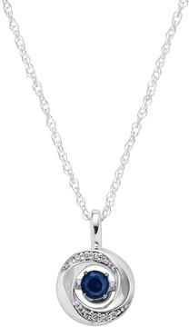 Brilliance+ Brilliance In Motion Brilliance in Motion Sapphire & Diamond Accent Knot Pendant