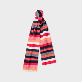 Paul Smith Girls' 7+ Years Multi-Colour Stripe Scarf