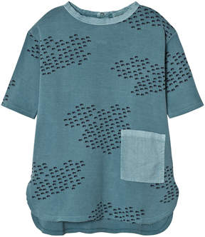 Bobo Choses Blue Flocks Pocket Dress