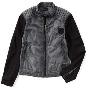 Buffalo David Bitton Jawick Nylon Moto Jacket