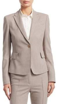 Akris Punto Jacquard Textured Blazer