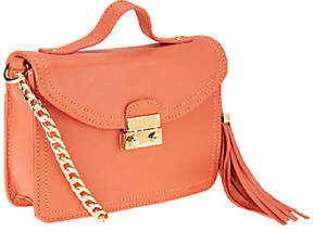 Isaac Mizrahi Live! Bridgehampton Leather MiniShoulder Bag
