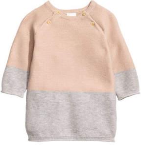 H&M Jacquard-knit dress - Beige