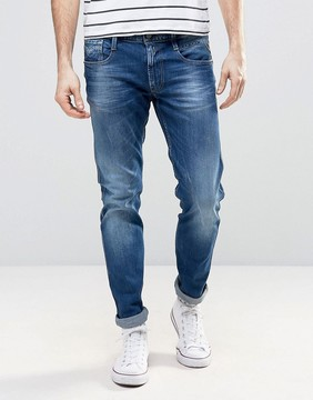 Replay Anbass Slim Fit Jeans Mid Blue Wash