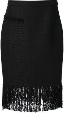 ADAM by Adam Lippes fringed pencil skirt