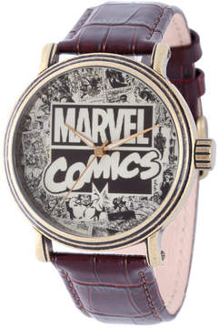Marvel Comics Mens Brown Strap Watch-Wma000047