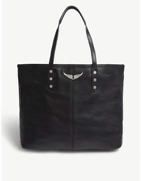 Zadig & Voltaire Noir Black Mick Leather Tote Bag