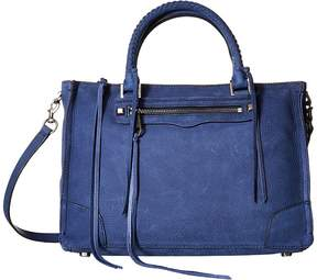 Rebecca Minkoff Regan Satchel Tote Tote Handbags - TRUE NAVY - STYLE
