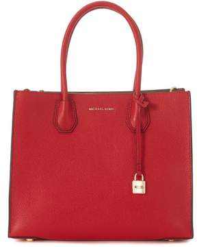 Michael Kors Mercer Red Leather Tote Bag - ROSSO - STYLE