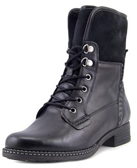 Gabor 92.781 Women W Round Toe Leather Black Ankle Boot.
