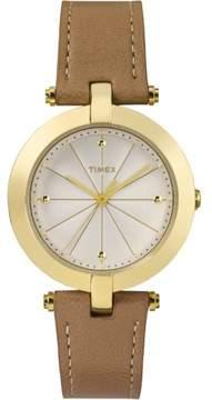 Timex Leather Ladies Watch TW2P79500