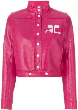 Courreges buttoned cropped jacket