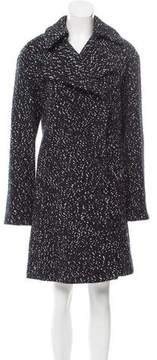 Celine Tweed Double-Breasted Coat