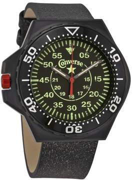 Converse Foxtrot Culture Black Dial Black Leather Unisex Watch VR-008-001