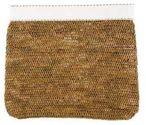 Michael Kors Medium Santorini Raffia Clutch