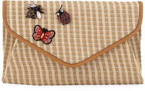 Neiman Marcus Mari Envelope Clutch Bag with Bugs