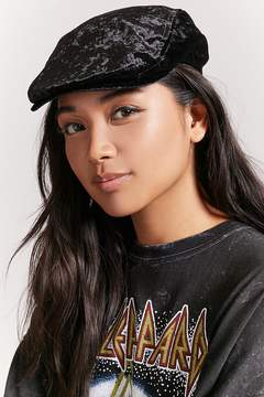 Forever 21 Crushed Velvet Cabby Hat